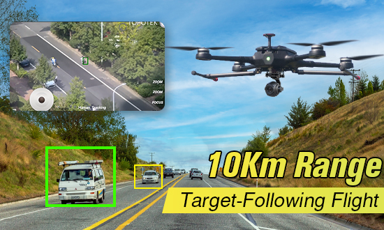 Hunter-900 drone AI Object Tracking Solution
