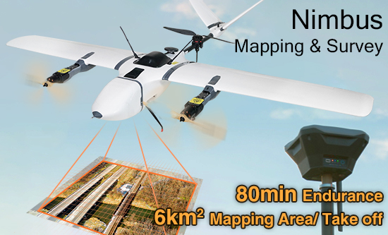 Nimbus VTOL V2 Aircraft for Mapping and Survey