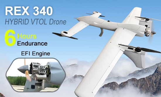 REX 340 Canard Hybrid VTOL Drone