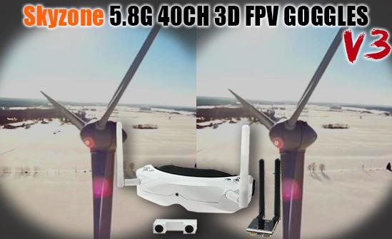 skyzone 02s 2D 3D goggles race band