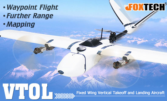 Fixed Wing Vertical Takeoff and Landing Aircraft (VTOL)