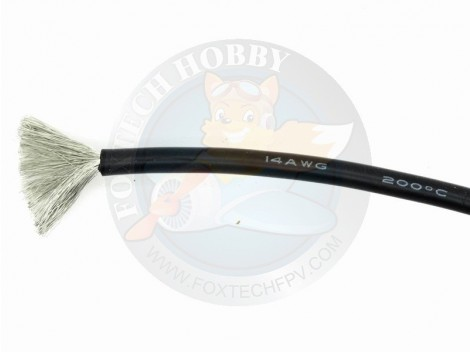 14 AWG Silicon Cable Black 1m
