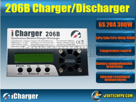 iCharger 206B Synchronous Balance 6S 20A 300W Charger Discharger