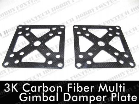 3k C/F Multi Gimbal Damper Plate(2pcs)