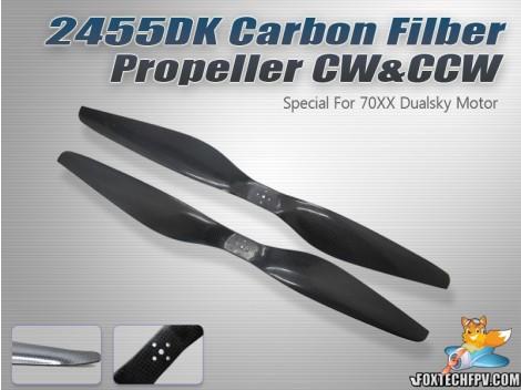 2455 DK Carbon Fiber Propeller CW&CCW