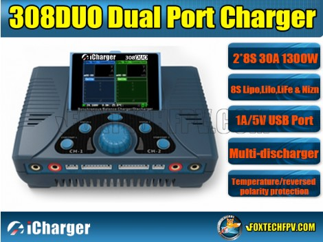 iCharger 308 DUO 1300W 30A 8S Dual Port Charger