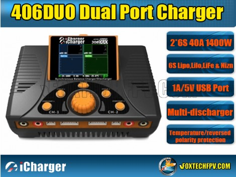 iCharger 406 DUO 1400W 40A 6S Dual Port Charger