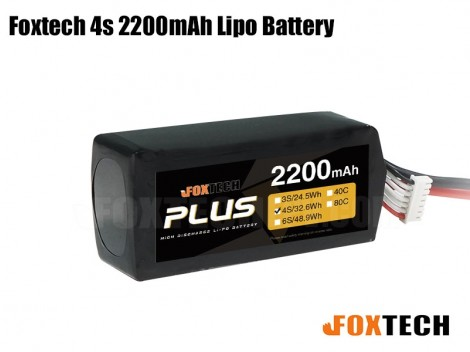 Foxtech 4S 2200mAh Lipo Battery for RC Multicopter/Helicopter/Plane