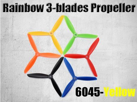 6045 3-Blades Rainbow Propeller CW/CCW