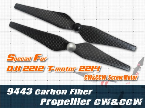 9443 Self-locking CF Propeller For 22xx CW/CCW motor(RB)