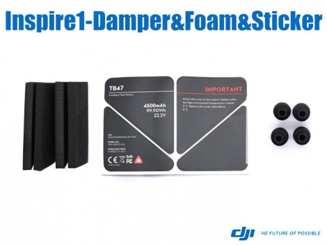 DJI Inspire1-Gimbal Rubber Dampers&EVA Foam for Battery&U-EVA Sticker for Remote Controller(Part No.42)