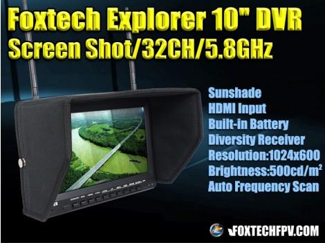 """Foxtech Explorer 10"""" DVR"""