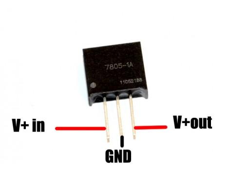 Foxtech mini 5V 1A switch regulator 7805