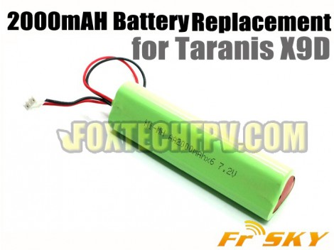 FrSky 2000mAh Battery Replacement for Taranis X9D