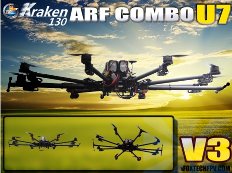 Foxtech K130 V3 U7 Octocopter ARF Combo Preorder