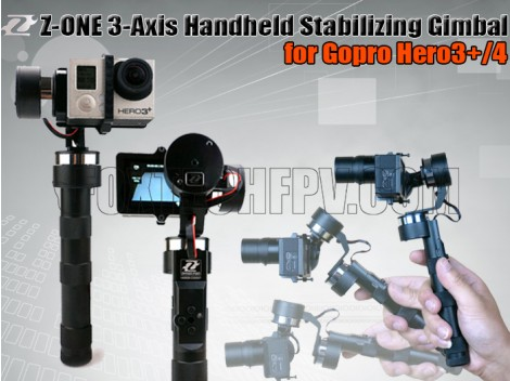 Z-ONE 3-Axis Handheld Stabilizing Gimbal for Gopro Hero3/3+/4