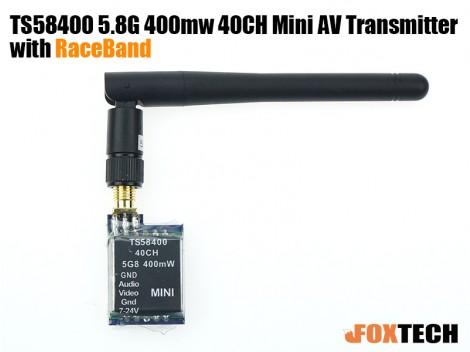 TS58400 5.8G 400mw 40CH Mini AV Transmitter with RaceBand