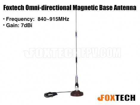 Foxtech 840~915MHz 7dBi Omni-directional Magnetic Base Antenna