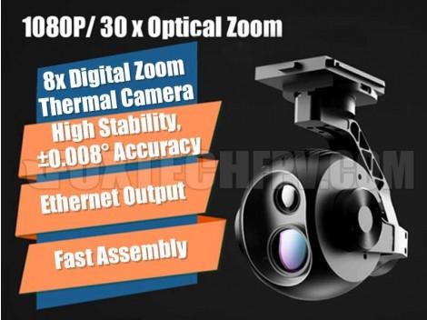 Foxtech EH640 30x Optical Zoom IR Thermal Camera with 3-axis Gimbal