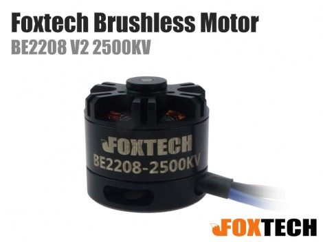 Foxtech  BE2208 V2 KV2500 Brushless Motor