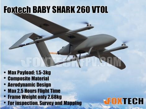 FOXTECH BABY SHARK 260 VTOL DA16S+RTF(Matt Grey)