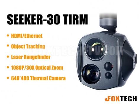 SEEKER-30 TIRM Dual-Sensor Laser Rangefinder 30X Zoom Camera with 3-axis Gimbal
