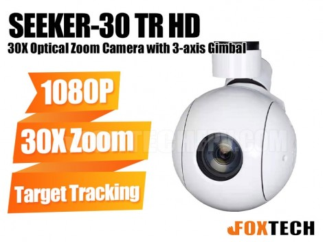 FOXTECH SEEKER-30 TR 30X Optical Zoom Camera with 3-axis Gimbal-Free Shipping