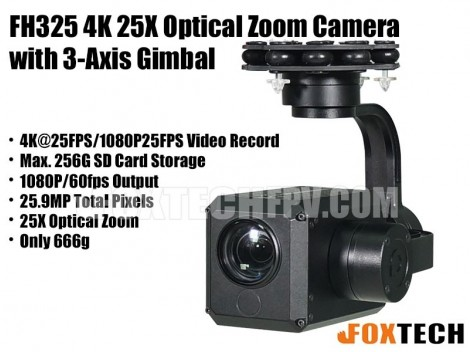 FH325 4K 25X Optical Zoom Camera with 3-Axis Gimbal-Free Shipping(Preorder)
