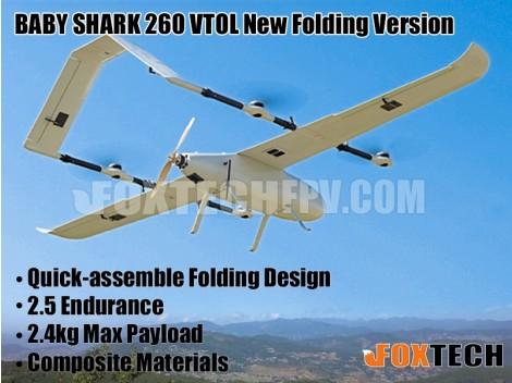 FOXTECH BABY SHARK 260 VTOL New Folding Version