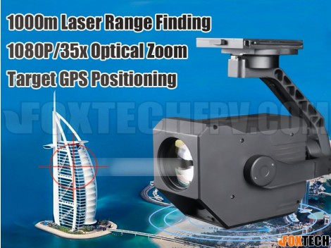 EH30L Dual Sensor 1km Laser Rangefinder 35x Zoom Starlight Camera with 3-axis Gimbal