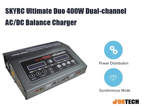 SKYRC Ultimate Duo 400W Dual-channel AC/DC Balance Charger