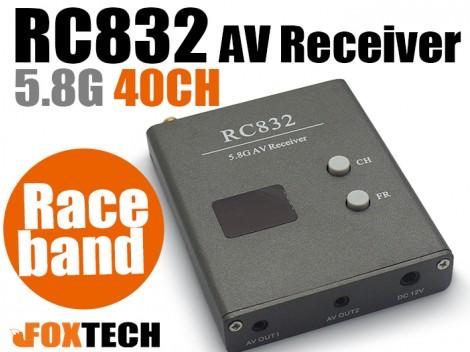 RC832 5.8G 40CH AV Receiver with Raceband