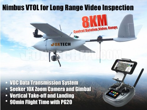 Nimbus VTOL for Long Range Video Inspection