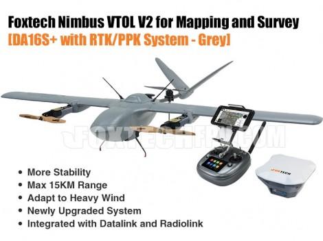 Foxtech Nimbus VTOL V2 with RTK/PPK System-Grey