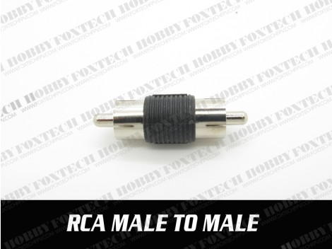 RCA male to male adaptor