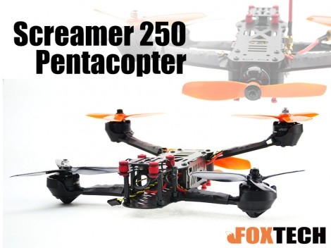 Foxtech Screamer 250 FPV Racing Pentacopter Combo Without Cam & Vtx (Free Shipping)