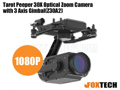 Tarot Peeper 30X Optical Zoom Camera with 3 Axis Gimbal(T30X-200W)
