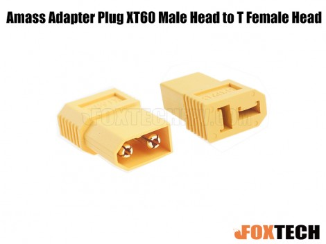 Amass Adapter Plug XT60 Male Head to T Female Head