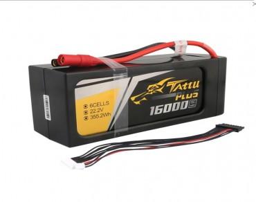 Tattu Plus 16000mAh 6S 15C 22.2V Lipo Battery Pack with AS150+XT150 Plug (new version)