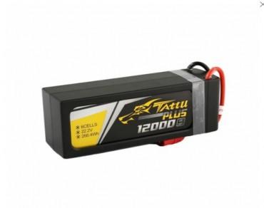 Tattu Plus 12000mAh 22.2V 15C 6S1P Lipo Smart Battery Pack with AS150 Plug