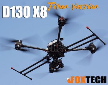 D130 X8 Titan Version Combo - Devourer(D130) Drone - Foxtech D130