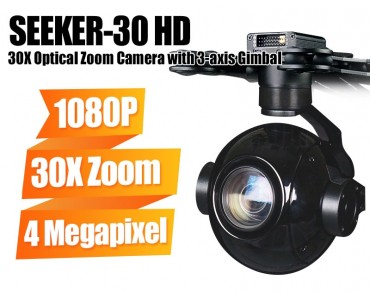 FOXTECH SEEKER-30 HD 30X Optical Zoom Camera with 3-axis Gimbal-Free Shipping