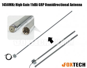 1450MHz High Gain 11dBi GRP Omnidirectional Antenna(2 Segments)