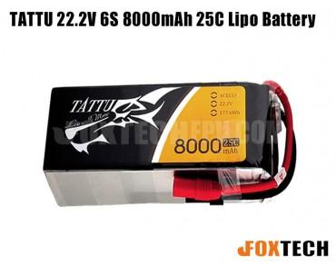 TATTU 22.2V 6S 8000mAh 25C Lipo Battery