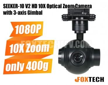 SEEKER-10 V2 HD 10X Optical Zoom Camera with 3-axis Gimbal