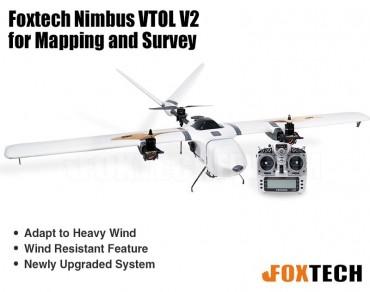 Foxtech Nimbus VTOL V2 for Mapping and Survey-X9D Combo