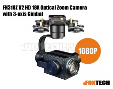 FH318Z V2 HD 18X Optical Zoom Camera with 3-axis Gimbal- Free Shipping