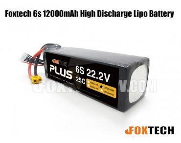 Foxtech 6s 12000mAh High Discharge Lipo Battery