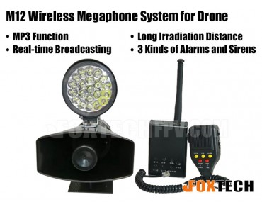 M12 Wireless Megaphone System for Drone