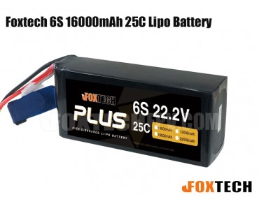 Foxtech 6S 16000mAh 25C Lipo Battery for RC Multicopter/Helicopter/Plane